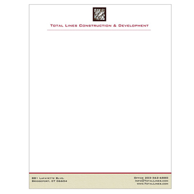 Letterhead construction company design portfolio letterhead construction company altavistaventures Image collections