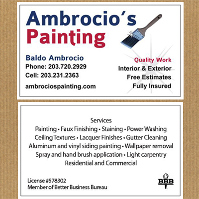 business cards painting company - Painting Business Cards
