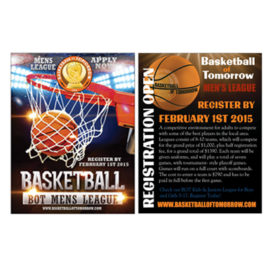 Basketball League Promotion Post Cards