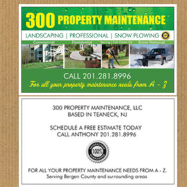 Business Cards Landscaping Company