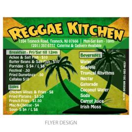 Flyer Design | Reggae Kitchen