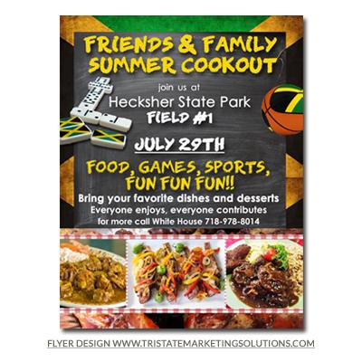 flyer design for summer cookout event design portfolio